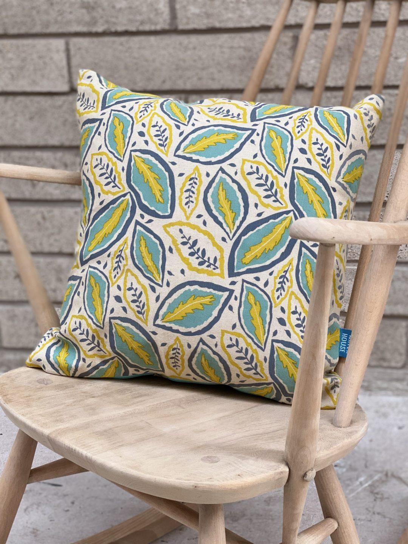 Hand printed Thea Cushion
