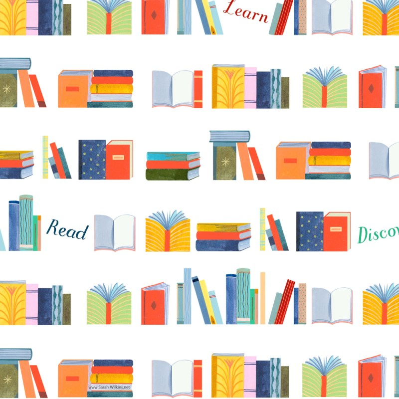 Wrapping Paper for Barnes and Noble by illustrator Sarah Wilkins