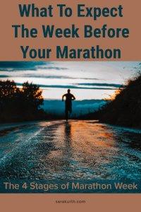 stages of marathon week