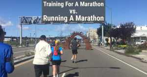 Training For a marathon running a marathon