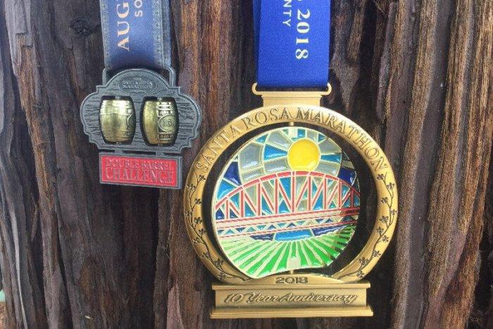 santa rosa marathon finishers medals