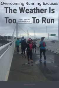 You can always come up with a dozen excuses why you cant do your scheduled run - bad weather is one you hear often. But bad weather is not a reason to skip your run. On the blog- overcoming your running excuses - bad weather #running #runningexcuses