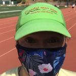 Runner wearing a face mask