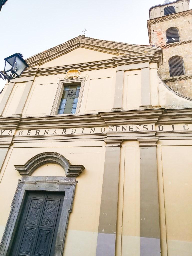 Faccia della Chiesa di San Bernardino da Siena