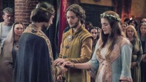 Aethelred e Aethelflaed si sposano - Un dolce inizio, poi... (TLK 2 - Toby Regbo e Millie Brady)