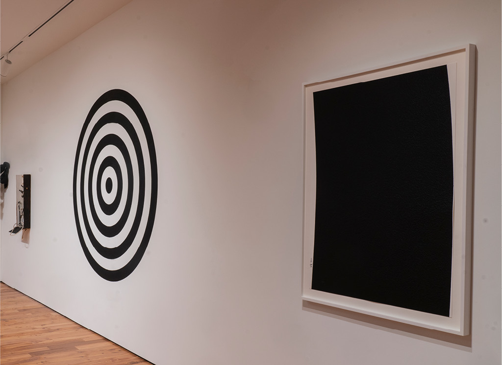 Dave Lewis's Target (2019) and Richard Serra's Extension #1 (2004)