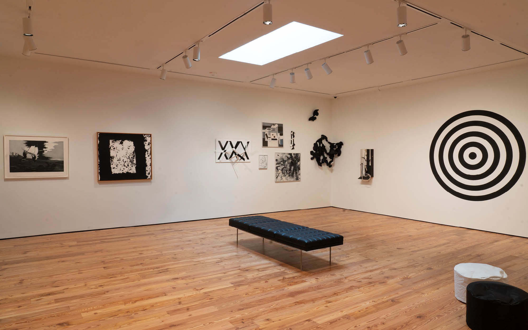 Color. Theory. & (b/w) Exhibition's North Gallery featuring work from Kara Walker, Richard Serra, Robert Barber, and Dave Lewis