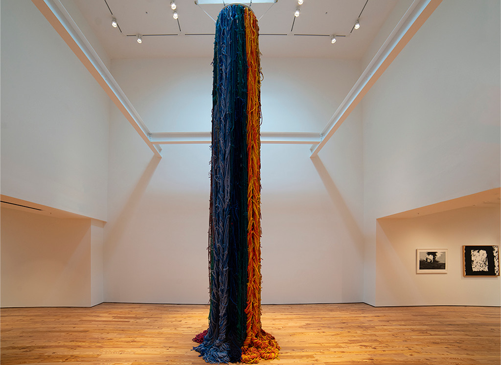 Sheila Hicks' The Questioning Column (2016/2019)