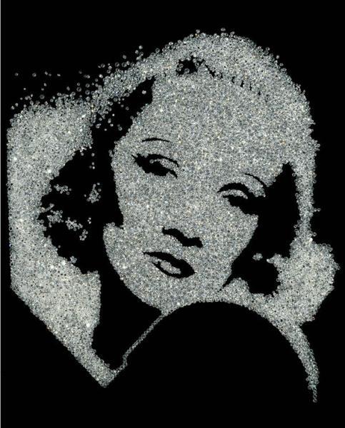Vik Muniz, Marlene Dietrich (2004)