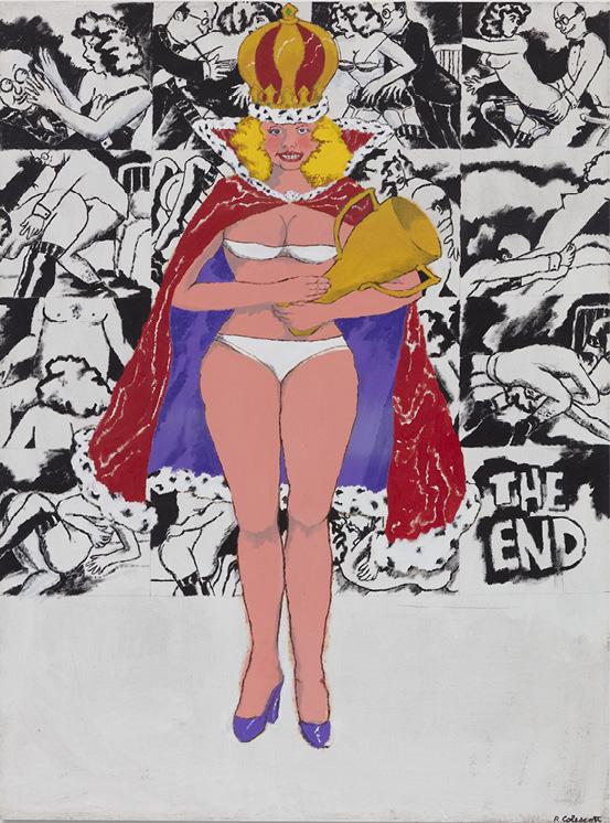 Robert Colescott, American Beauty, 1976, Acrylic on canvas, © 2021 The Robert H. Colescott Separate Property Trust / Artists Rights Society (ARS), New York, Courtesy of The Robert H. Colescott Separate Property Trust and Blum & Poe, Los Angeles/New York/Tokyo