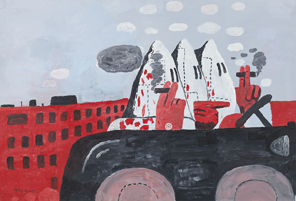 Philip Guston, Riding Around, 1969, Oil on canvas,54 x 79 in.