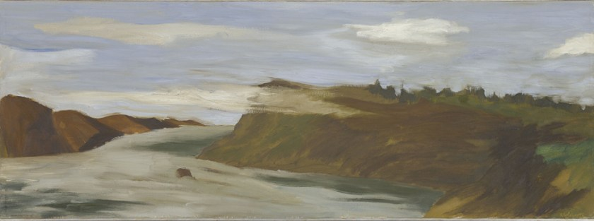 Robert Colescott, View of Columbia Gorge, 1960, Oil on canvas, © 2021 The Robert H. Colescott Separate Property Trust / Artists Rights Society (ARS), New York, Collection of Jordan D. Schnitzer