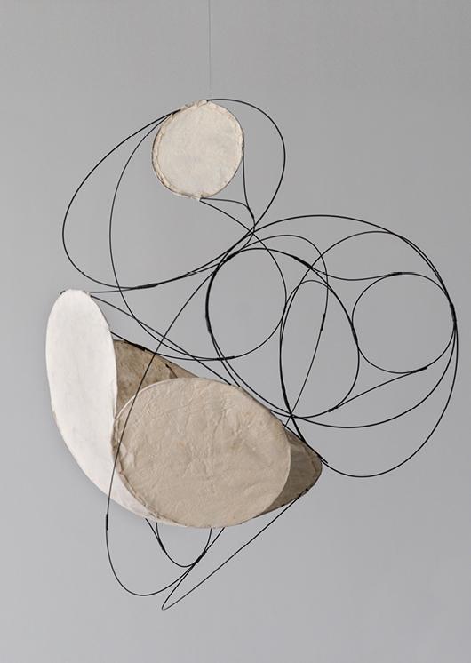 Aranda\Lasch + Terrol Dew Johnson, Wire Coil 05 w/ Yucca, 2016, Steel wire, nylon, yucca, paper, 24 x 26 x 24 in., Courtesy of the artists
