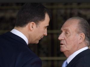 Felipe con su padre el Rey Juan Carlos