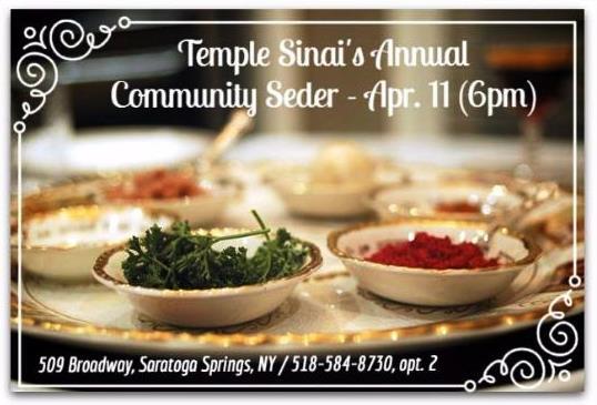 Temple Sinai's Community Seder – 4/11