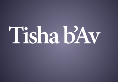 Tisha B'Av Reflection AND Action