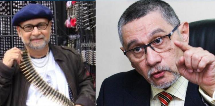 The brothers Kamarudin - pro-Najib blogger Raja Petra Kamarudin (left) and PAS party advisor Raja Idris Kamarudin (right)