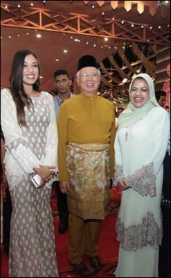 From left to right: Happier days: National Feedlot Corporation director Izzana Salleh, ex-prime minister Najib Razak, and former minister Shahrizat Abdul Jalil in Kuala Lumpur in 2017