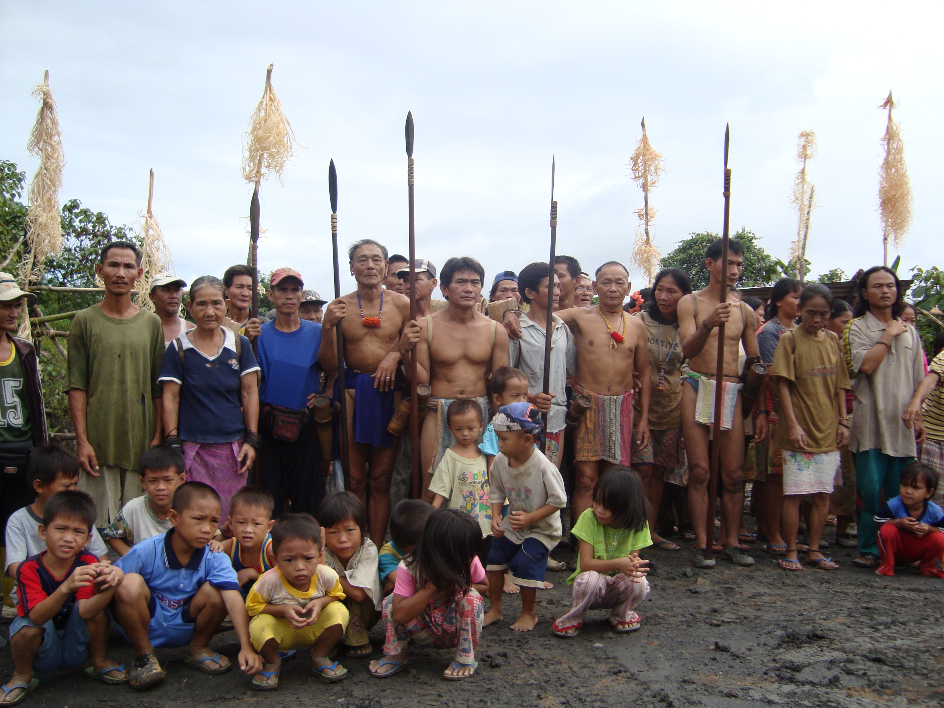 Native forest dwellers in Sarawak protesting at the logging and destruction of their lands and rivers