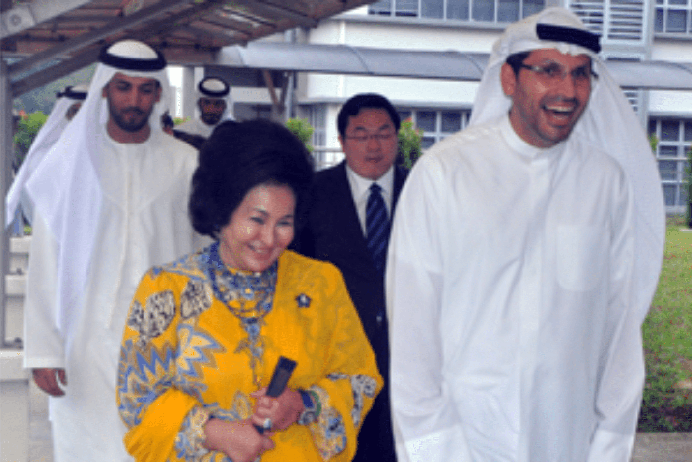Hovering or presiding? Jho Low accompanying PM's wife Rosmah and the Crown Prince during March 12 signing visit