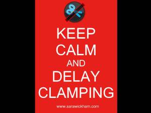 keep calm delay clamping