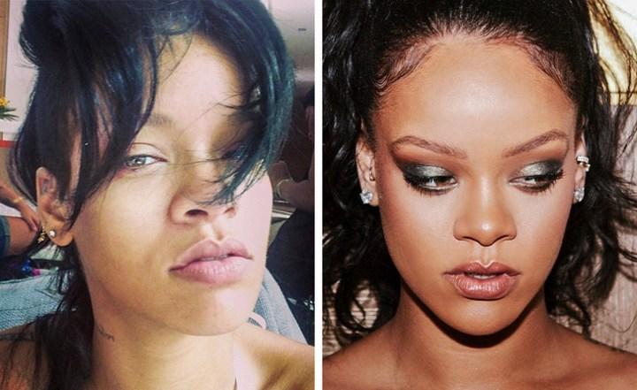 taking off makeup