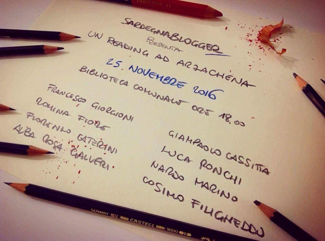 25/11/2016: reading di Sardegnablogger ad Arzachena (di Francesco Giorgioni)