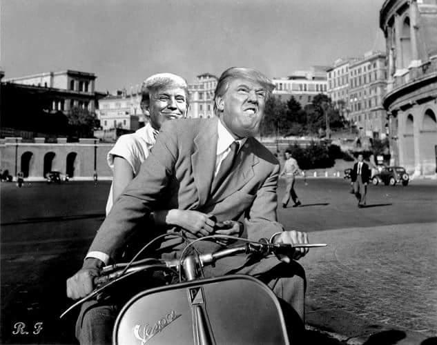 Personaggio del giorno: la Vespa di Trump (di Cosimo Filigheddu)