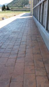 Pavimento in pietra romana a guspini