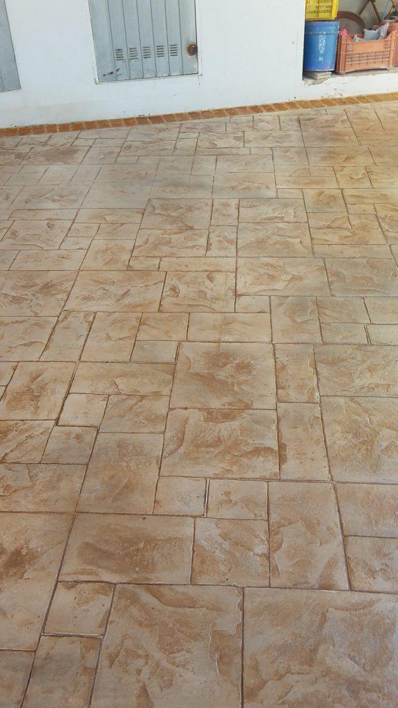 Pavimento in cemento stampato ardesia a macomer