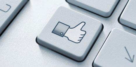 Tasto raffigurante il like di Facebook