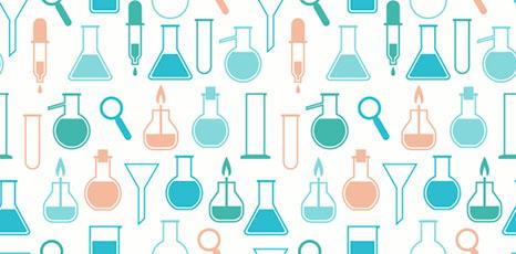 Icone di strumenti da laboratorio scientifico