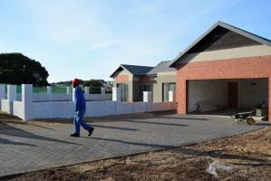 A Sardinia Bay Estate home nearing completion.
