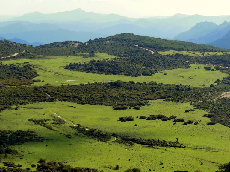 Once you are back again at around 1000 meters you have all the valley and the chain of mountains in front of you