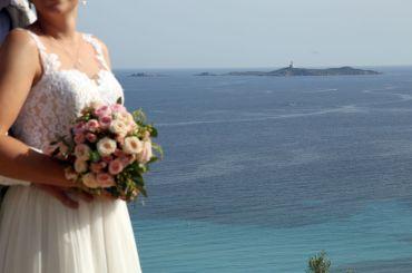 Blumen für den Brautstrauß