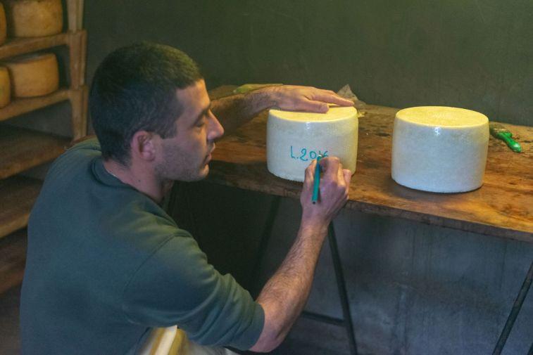 Pecorino-Herstellung in Mamoiada
