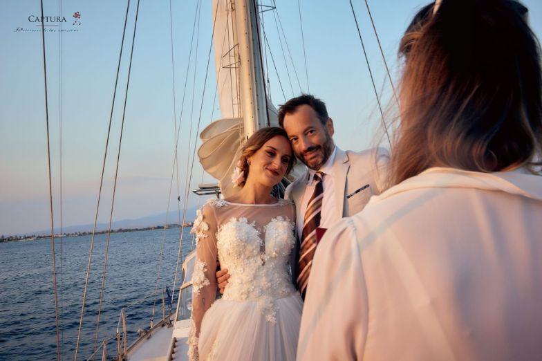 Hochzeit auf dem Segelboot