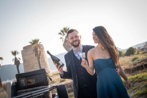 Heiraten am Strand im Winter auf Sardinien