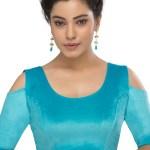 Buy Blue Velvet Plain Designer Blouse Online