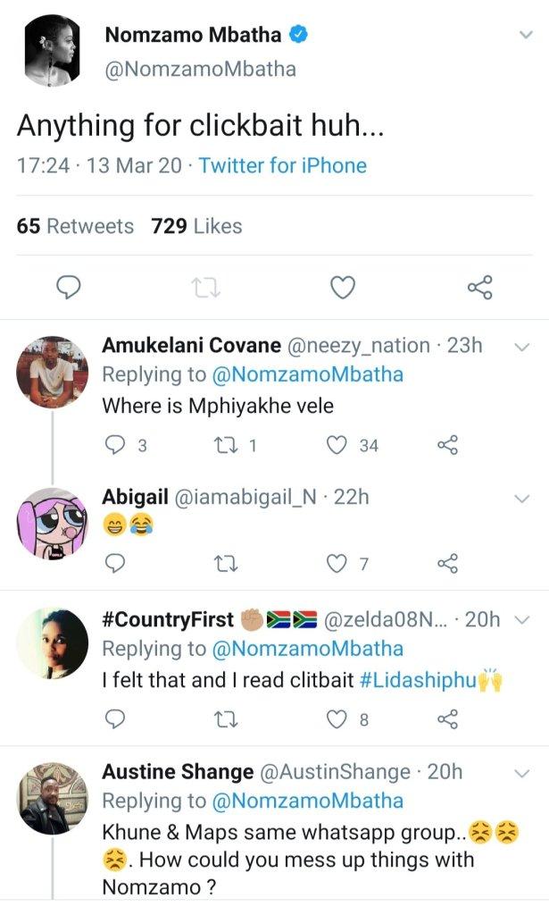 Nomzamo mbatha and maps