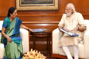 MP Governor Anandiben Patel goes wrong declares PM unmarried