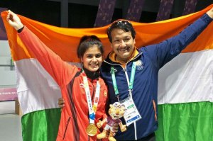 manu bhakar won gold in youth olympics