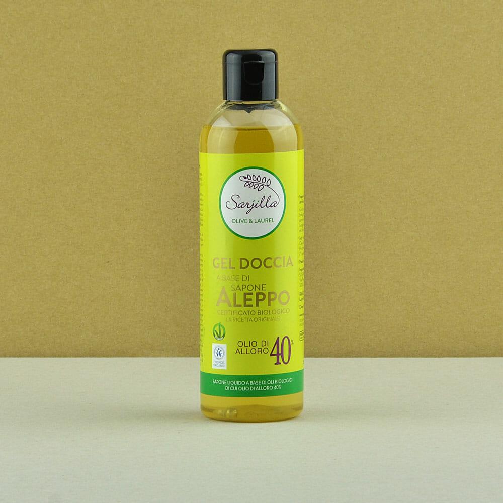 Sarjilla shower gel. Organic Aleppo soap-based shower gel 40%. Buy online.