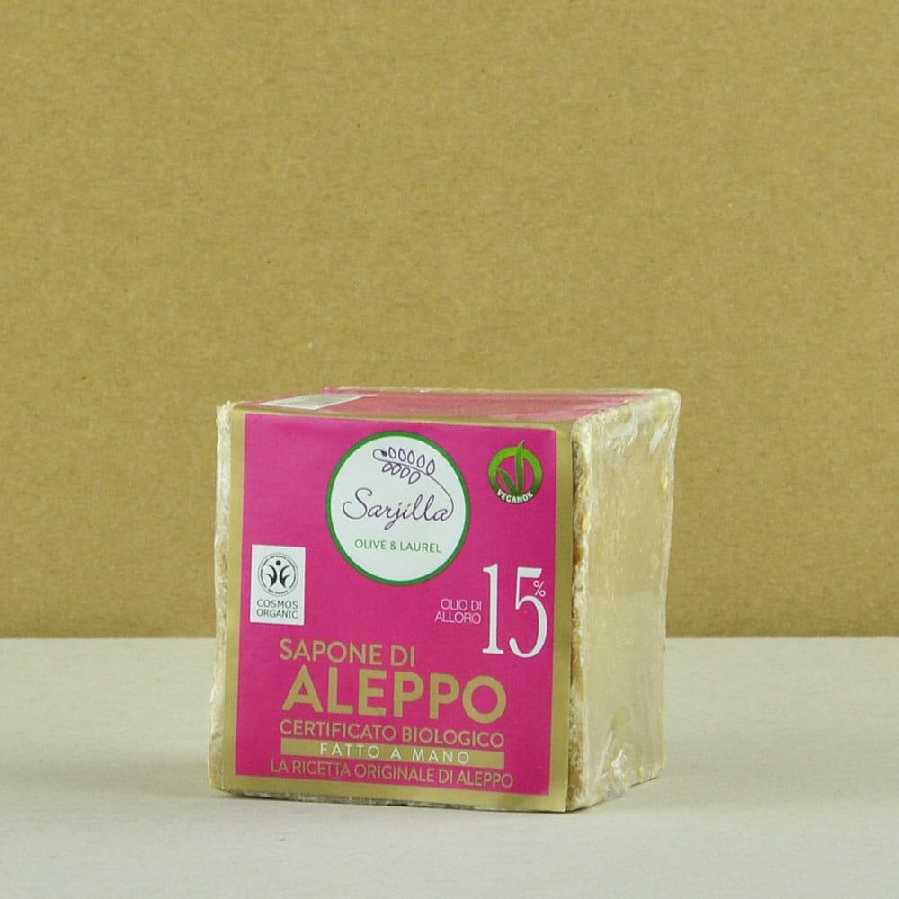 Sapone solido di Aleppo 15% certificato biologico Sarjilla