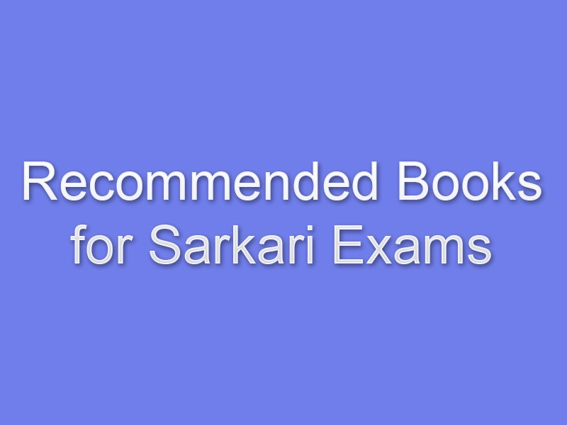 Recommended Books For Sarkari Exams