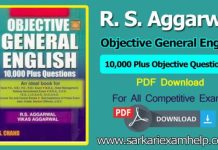 Free Download R. S. Aggarwal Objective General English PDF E-Book