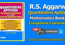 R. S. Aggarwal Quantitative Aptitude Latest 7th Edition English For Competitive Examinations E-Book PDF Free Download