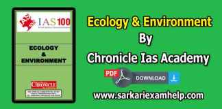 Ecology & Environment {पारिस्थितिकी एवं पर्यावरण} PDF Notes in Hindi & English By Chronicle Ias Academy