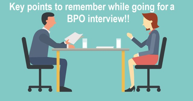 Common Interview Question For BPO Job