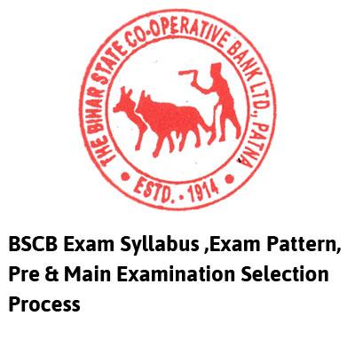 Bscb Exam Syllabus ,Exam Pattern, Pre & Main Examination Selection Process